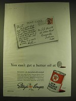 1938 Texaco Motor Oil Ad - You can't get a better oil at 25¢