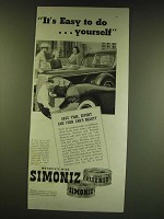 1938 Simoniz Wax and Simoniz Kleener Ad - It's easy to do … yourself