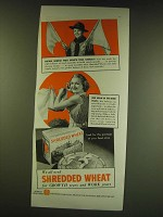 1938 Nabisco Shredded Wheat Ad - Mother, Nourish those growth years carefully