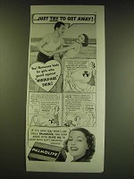 1938 Palmolive Soap Ad - Just try to get away