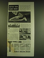 1938 Schick Injector Razor Ad - Better than 10,000 words