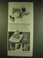 1938 Kool Cigarettes Ad - Keeps you kool as a dip in a pool