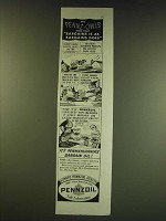 1938 Pennzoil Oil Ad - The Pennz-Owls find that bargains is as bargains does