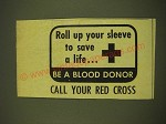 1969 Red Cross Ad - Roll up your sleeve to save a little