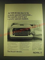 1966 Royal Ultronic Typewriter Ad - At $199.50 has to be a special typewriter