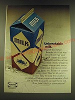 1966 Ex-cell-o Pure-Pak Cartons Ad - Unbreakable milk