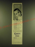 1966 Curity Prefold Diapers Ad - Save time repeatedly
