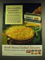1966 Kraft Macaroni & Cheese Ad - When we say cheddar, it's not just chatter