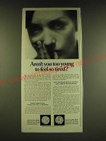 1966 Geritol Medicine Ad - Aren't you too young to feel so tired?