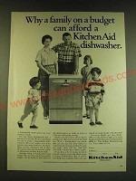 1966 KitchenAid Dishwasher Ad - Why a family on a budget can afford
