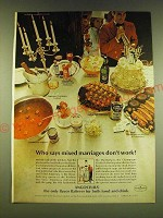 1966 Angostura Bitters Ad - Who says mixed marriages don't work