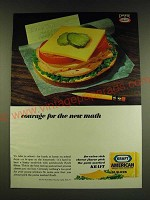1966 Kraft American Slices Ad - Courage for the new math