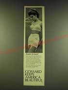 1966 Gossard Ad - Size-zip girdle #1742-3 and Answer Bra #3682