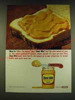 1966 Kraft Cheez Whiz Ad - When it's Mom - I'm hungry time - Cheez Whiz 'em!