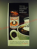 1966 Carnation Coffee-Mate Ad - makes coffee taste smoother richer