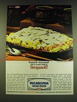 1966 Kraft Philadelphia Cream Cheese Ad - Romanoff - shmomanoff