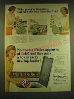 1966 Tide Detergent Ad - Philco proved to themselves: Dirt can't hide
