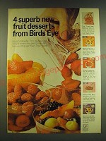 1966 Birds Eye Fruit Ad - 4 superb new fruit desserts from Birds Eye
