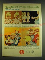 1966 Mattel Dolls Ad - Cheerful Tearful, Baby First Step, Tom and Jerry