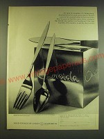 1966 Oneida Wintersong Stainless Silverware Ad - It's new. It's Stainless.