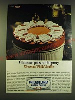 1966 Kraft Philadelphia Cream Cheese Ad - Glamour-puss of the party