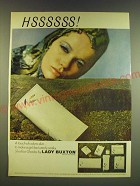 1966 Lady Buxton Shadow Shades Ad - Hssssss! A touch of cobra-skin
