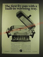 1966 Hoover Electric Fry Pan Ad - The first fry pan with a built-in warming tray