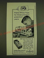 1966 Fisher-Price School Bus Toy Ad - Precious Preschool Years
