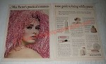 1966 Max Factor Ad - Sheer Geinus Make-Up, Pastel Glow, Crème Puff Make-up