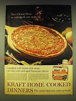 1964 Kraft Pizza with Cheese Dinner Ad - New Cheese-Pizza as only Kraft can