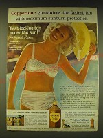 1964 Coppertone Suntan Lotion Ad - Carroll Baker