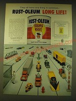 1964 Rust-Oleum Paint Ad - They all have one thing in common Rust-Oleum