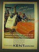 1964 Kent Cigarettes Ad - Filter taste and pleasure
