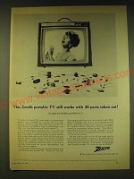 1964 Zenith Jetliner Television Ad - This Zenith portable TV still works