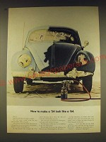 1963 Volkswagen VW Bug Ad - How to make a '54 look like a '64