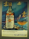 1963 Martell Cognac Ad - Nobody knows cognac like the French