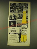 1963 Galliano Liqueur Ad - Fond of things Italiano? Try a sip of Galliano