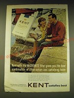 1963 Kent Cigarettes Ad - Kent with the micronite filter