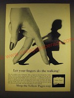 1962 Yellow Pages Ad - Let your fingers do the walking