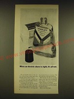 1962 Yardley Pre-Electric Shaving Lotion Ad - When an electric shave is right