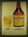 1962 Christian Brothers Brandy Ad - It's better with brandy