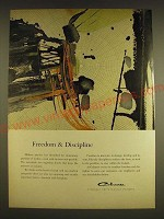1962 Celanese Chemicals Ad - Freedom & Discipline
