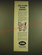 1962 INA Insurance Company of North America Ad - Holes in your building