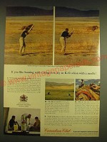 1962 Canadian Club Whisky Ad - If you like hunting with a sting in it