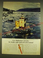 1962 Ballantine's Scotch Ad - Give Ballantine's Scotch - the bright spirit