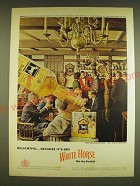 1962 White Horse Scotch Ad - Delightful Because it's dry