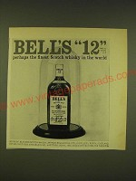 1962 Bell's Scotch Ad - Bell's 12 perhaps the finest Scotch Whisky in the world