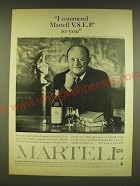 1961 Martell Cognac Ad - I commend Martell V.S.E.P. to you