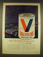 1961 Valvoline Motor Oil Ad - New symbol of quality now with miracle Chemaloy