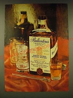 1961 Ballantine's Scotch Ad